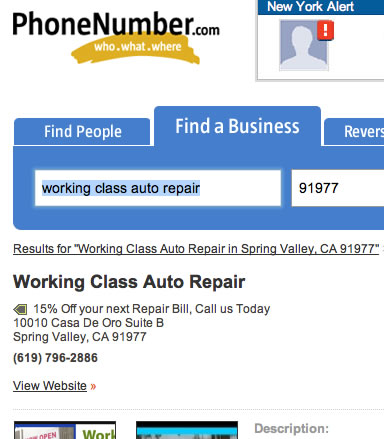 Add a business to Phonenumber.com