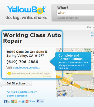Add a business to Yellowbot