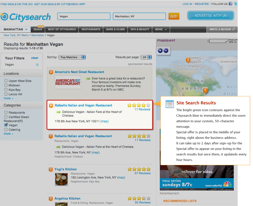 PowerListings Live on Citysearch