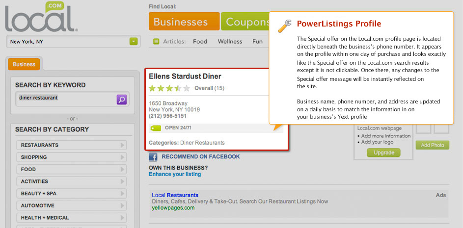 PowerListings Live on Local.com