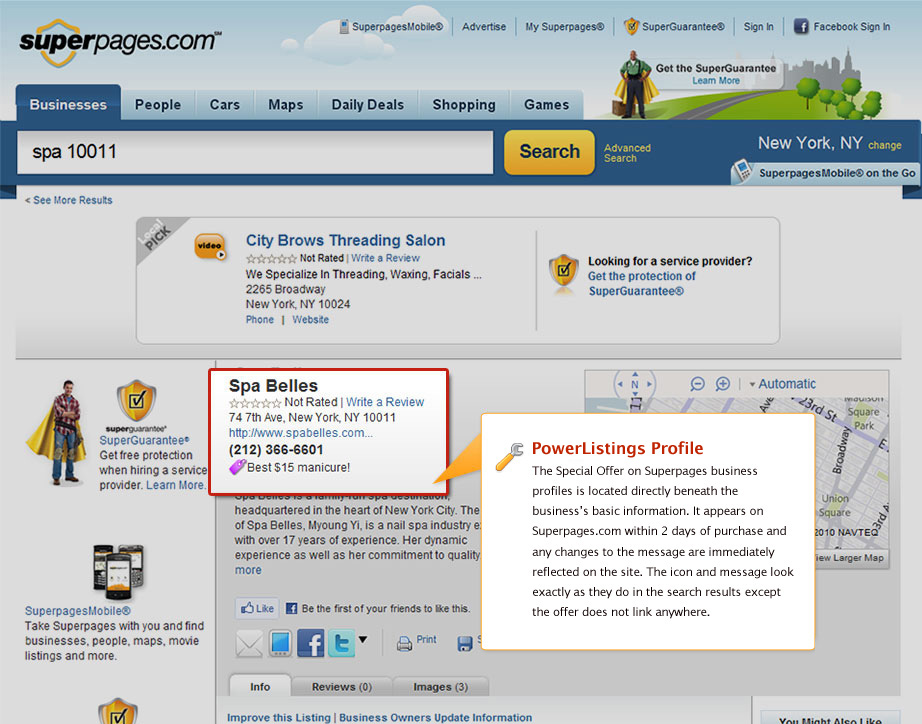 PowerListings Live on Superpages