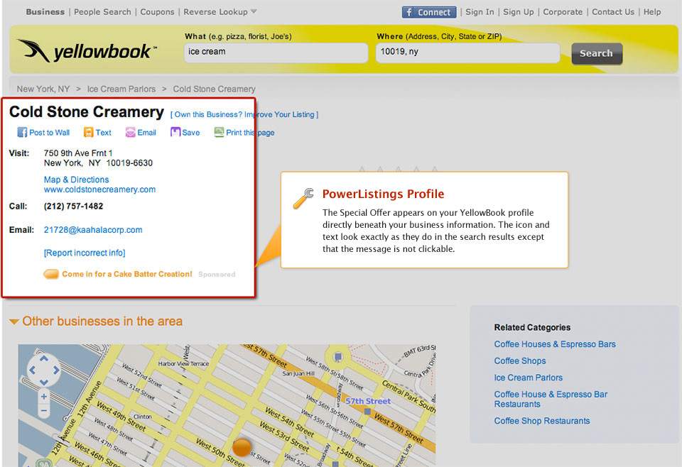 PowerListings Live on Yellowbook