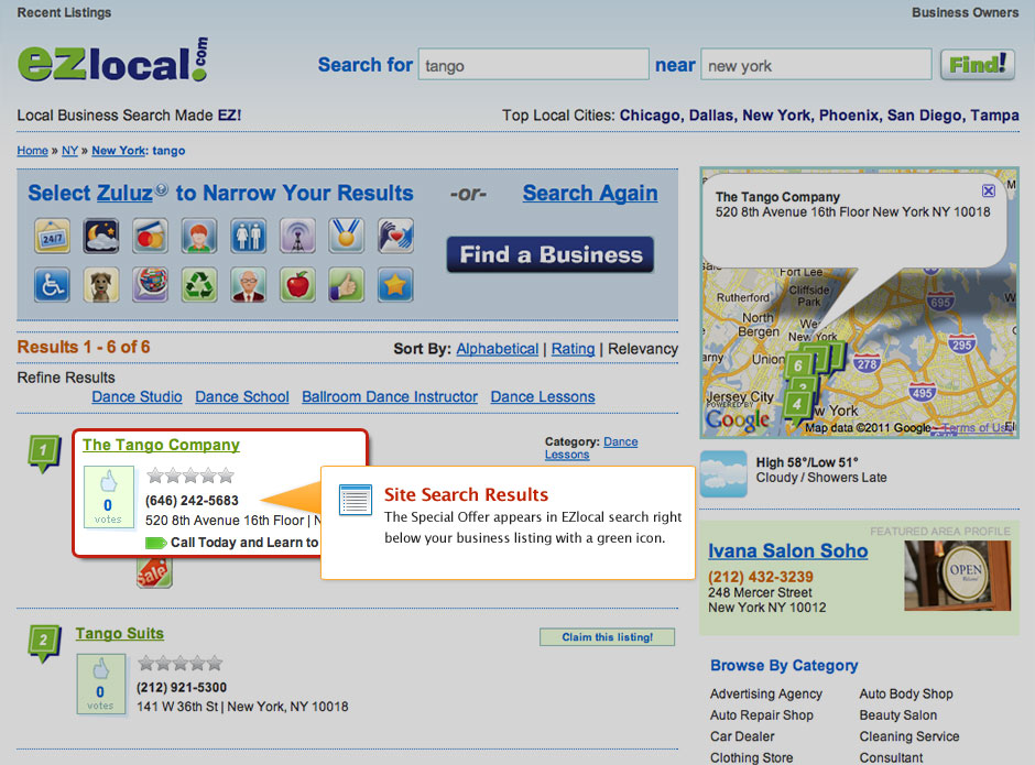 PowerListings Live on EZlocal