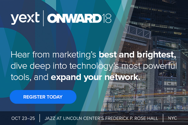 Register for Yext's ONWARD18 Conference in New York City